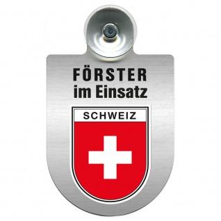 Einsatzschild Windschutzscheibe incl. Saugnapf - Förster im Einsatz - 309758 Region Schweiz
