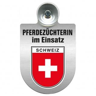 Einsatzschild mit Saugnapf Pferdezüchterin im Einsatz 393832 Region Schweiz