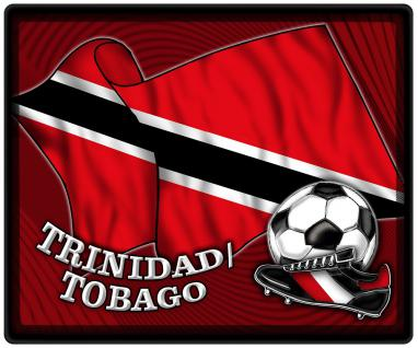 Mousepad Mauspad mit Motiv - Trinidad Fahne Fußball Fußballschuhe - 83170 - Gr. ca. 24 x 20 cm