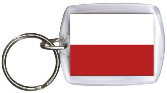 Schlüsselanhänger - POLEN - Gr. ca. 4x5cm - 81132 - Flagge Anhänger Keyholder WM Länder