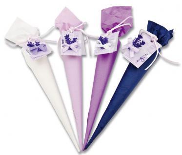 Lavendel Badesalz Tuete mit Aufdruck 29x4cm 100g Weihnachtsgeschenk 3802 blau
