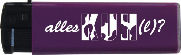Einwegfeuerzeug - Alles KUHL? - 30170 violett