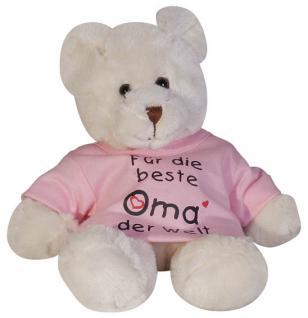 Plüsch - Teddybär mit Shirt - Für die beste Oma der Welt - 27032