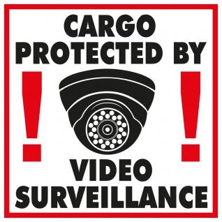 PVC-Aufkleber Sticker - Cargo Protected by Video Surveillance - Gr. ca. 27 x 27 cm - 308366/1