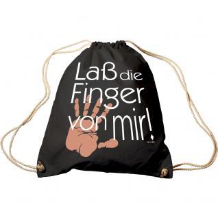Trend-Bag mit Aufdruck - Laß die Finger von mir - 65002 - Turnbeutel Sporttasche Rucksack