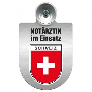 Einsatzschild Windschutzscheibe incl. Saugnapf - Notärztin im Einsatz - 309733 Region Schweiz