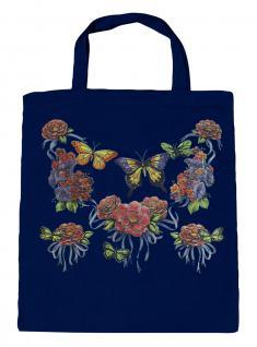 (U09943)Umweltfreundliche Baumwoll - Tasche , ca. 28 x 43 cm mit Aufdruck in 7 Farben Navy