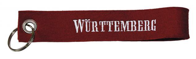 Filz-Schlüsselanhänger mit Stick Württemberg Gr. ca. 17x3 cm 14196 bordeaux