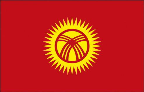 Flagge Stockländerfahne - Kirgisistan - Gr. ca. 40x30cm - 77082