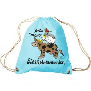 Sporttasche mit Aufdruck - Die Föhrer Stadtmusikanten - 65163 - Turnbeutel Sportbeutel Rucksack hellblau