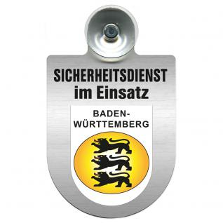 Einsatzschild Windschutzscheibe incl. Saugnapf - Sicherheitsdienst im Einsatz - 309351 Region Baden-Württemberg