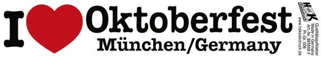 PVC-Aufkleber - I like Oktoberfest München Germany - 301510-1 - Gr. ca. 18 x 3, 5 cm