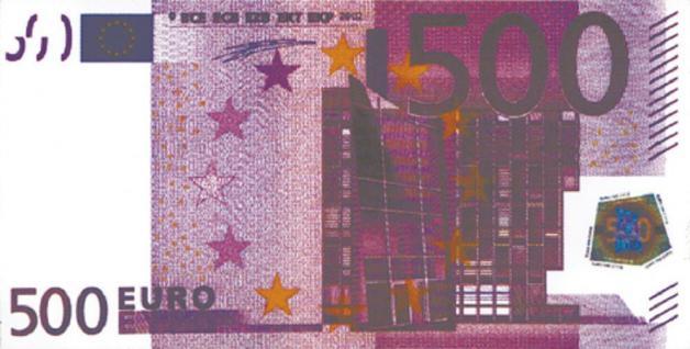 PVC Aufkleber Fun Auto-Applikation Spass-Motive und Sprüche - 500 Euro Schein - 303411 - Gr. ca. 20, 5 x 10, 5 cm