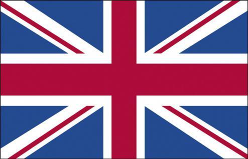 Länderfahne - Großbritannien - Gr. ca. 40x30cm - 77057 - Stockländerfahne