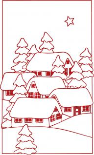 Wandtattoo Dekorfolie Weihnachtsbild WD0808 - rot / 120cm