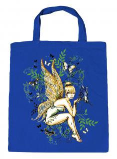 (U10972)Umweltfreundliche Baumwoll - Tasche , ca. 28 x 43 cm mit Aufdruck in 7 Farben blau