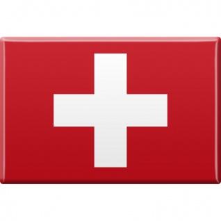 Kühlschrankmagnet - Länderflagge Schweiz - Gr.ca. 8x5, 5 cm - 38948 - Magnet