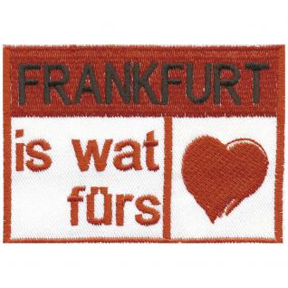 AUFNÄHER - Frankfurt - 00397 - Gr. ca. 9 x 7 cm - Patches Stick Applikation