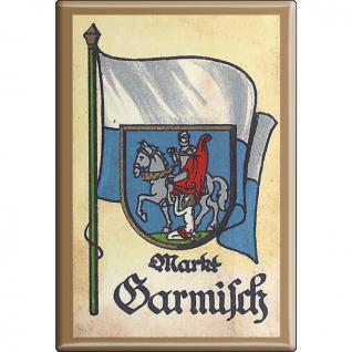 Küchenmagnet - Wappen Garmisch - Gr. ca. 8 x 5, 5 cm - 37522 - Magnet Kühlschrankmagnet