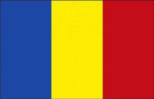 Länder-Flagge - Tschad - Gr. ca. 40x30cm - 77171 - Dekoflagge, Hissfahne, Stockländerfahne