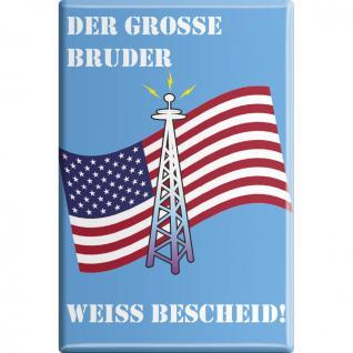 Küchenmagnet - Der große Bruder weiß Bescheid - Gr. ca. 8 x 5, 5 cm - 38818 - Magnet Kühlschrankmagnet