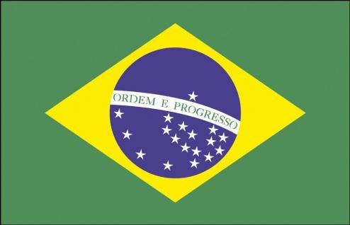 Auto-Flagge - Brasilien - Gr. ca. 40x30cm - 78029 - Flagge mit Klemmstab, Autoländerfahne