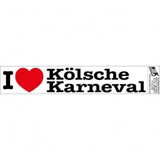 PVC-Aufkleber - I love Kölsche Karneval - Gr. ca. 18 x 3, 5 cm - 301570/1