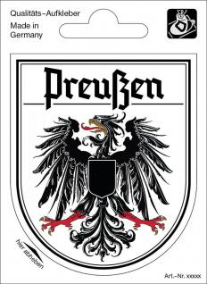 Wappenaufkleber Preußen - 301645-3 - Gr. ca. 6, 5 x 8, 0 cm