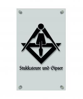 Zunftschild Handwerkerschild - Stukkateure und Gipser - beschriftet auf edler Acryl-Kunststoff-Platte ? 309423 schwarz