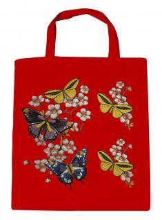 (06991-2)Umweltfreundliche Baumwoll - Tasche , ca. 28 x 43 cm mit Aufdruck in 7 Farben rot