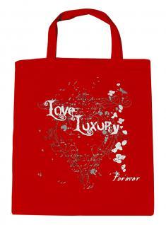 (U10835)Umweltfreundliche Baumwoll - Tasche , ca. 28 x 43 cm mit Aufdruck in 7 Farben rot