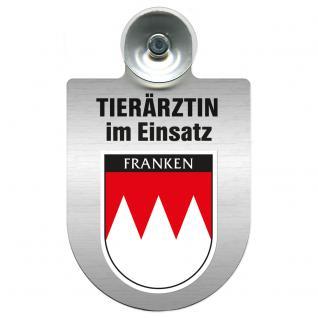 Einsatzschild für Windschutzscheibe incl. Saugnapf - Tierärztin im Einsatz - 309474-18 Region Franken