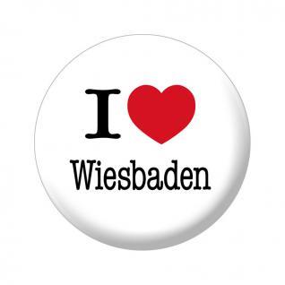 Kühlschrankmagnet - I love Wiesbaden - Gr. ca. 5, 7 cm - 16252 - Küchenmagnet