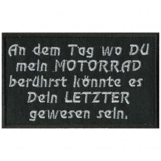 AUFNÄHER - An dem Tag... - 06102 - Patches Stick Applikation