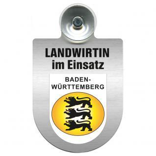 Einsatzschild Windschutzscheibe incl. Saugnapf - Landwirtin im Einsatz - 309738-1 Region Baden-Württemberg