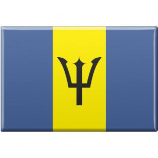 Küchenmagnet - Länderflagge Barbados - Gr.ca. 8x5, 5 cm - 38016 - Magnet