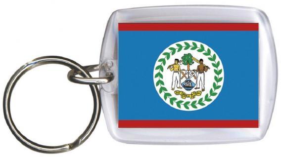 Schlüsselanhänger - BELIZE - Gr. ca. 4x5cm - 81024 - WM Länder