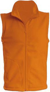 (11537) Karneval Fleece-Weste mit Brust- und Rückenstick,? Clown? NEU Gr. S- XXL in 4 Farben L / Orange