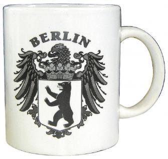 Sammlertasse Tasse mit Aufdruck Preussen Adler 57127 weiß