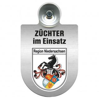 Einsatzschild Windschutzscheibe incl. Saugnapf - Züchter im Einsatz - 309384 Region Niedersachsen