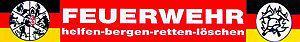 PST-Schild mit Saugnäpfen - FEUERWEHR helfen-bergen-retten-löschen - Gr. ca. 40 x 6cm - 307785 - Vorschau
