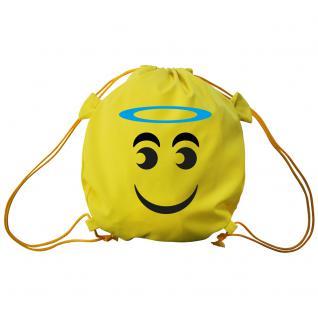 Trend-Bag mit Aufdruck - Smilie Heiligenschein - 65209 - Turnbeutel Sporttasche Rucksack