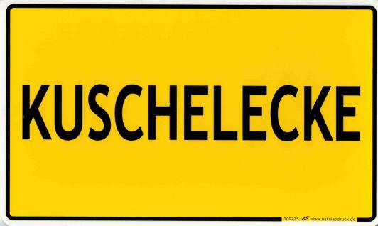 Spaß-Schild - KUSCHELECKE - 309275 - 25cm x 15cm