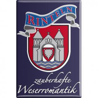 Küchenmagnet - Wappen Rinteln - Gr. ca. 8 x 5, 5 cm - 38785 - Magnet Kühlschrankmagnet