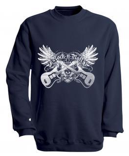 Sweatshirt - Rock´n Roll - S10248 - versch. farben zur Wahl - Gr. S-XXL Navy / XXL