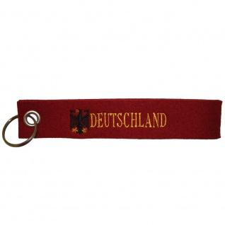 Filz-Schlüsselanhänger mit Stick Deutschland Gr. ca. 17x3cm 14240 rot