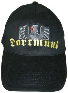 Baseball-Cap mit Riesenstick - Dortmund Adler - 68887 schwarz - Baumwollcap Cappy Baseballcap Schirmmütze - Vorschau