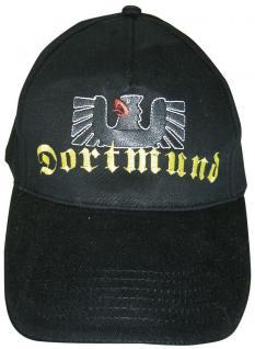 Baseball-Cap mit Riesenstick - Dortmund Adler - 68887 schwarz - Baumwollcap Cappy Baseballcap Schirmmütze