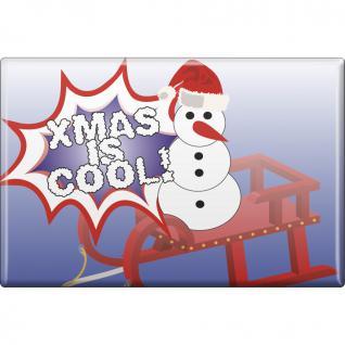 MAGNET - Weihnachten - Xmas is cool - Gr. ca. 8 x 5, 5 cm - 38233 - Küchenmagnet - Vorschau 1