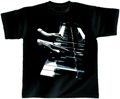 Designer T-Shirt - Piano Hands - 10392 - von ROCK YOU MUSIC SHIRTS - Gr. S